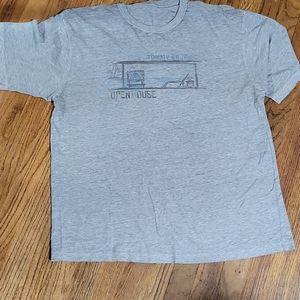 Tommy Bahama Size 2XL Gray Beach Shirt